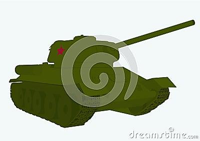 Russian tank  T 34