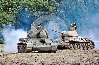 Russian tanks Editorial Stock Photo