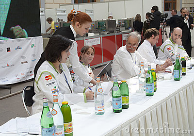 Russian tour of Bocuse d Or - the jury Editorial Photo