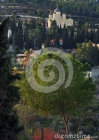 Free Russian Town Church In Jerusalem, Israel Stock Photos - 41797913