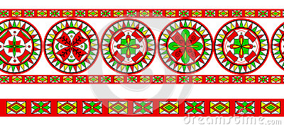 Russian traditional ornament of Severodvinsk regio