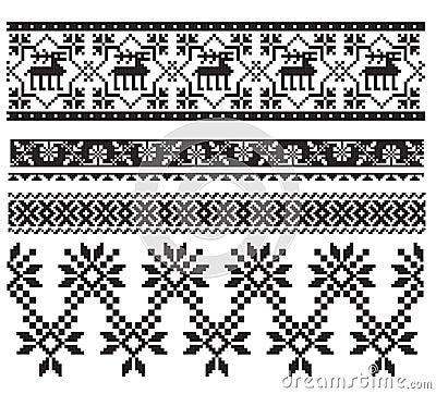 Russian ukrainian black embroider
