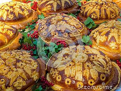 Russian or Ukrainian festive bread