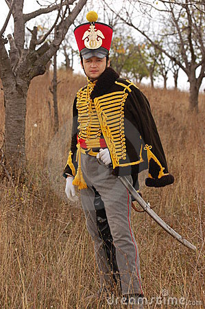 Russian uniform of cavalry.