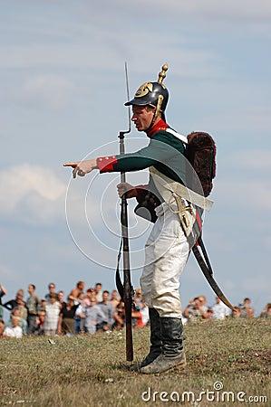 Russian uniform. Crimean War time Editorial Stock Photo