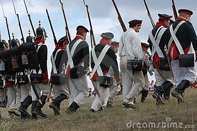 Russian uniform. Crimean War time Editorial Image