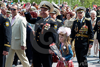 Russian veteran s parade. Editorial Image