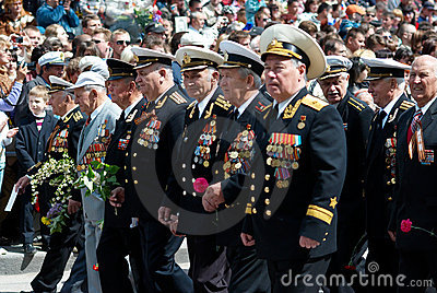 Russian veteran s parade. 9 of May. Editorial Image
