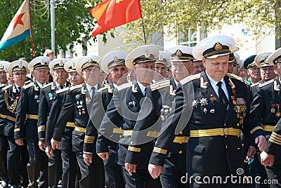 Russian veteran s parade May 9, 2009 Editorial Stock Photo