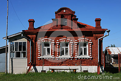 Russian Village Brick House