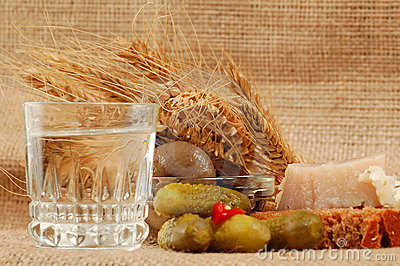 Russian vodka naturmort