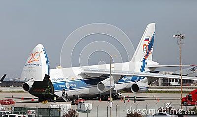 Russian Volga-Dnepr Antonov AN-124 Editorial Stock Photo