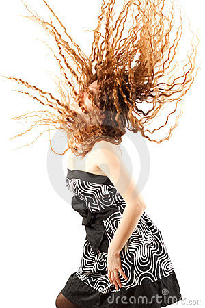 Free Russian Woman Shaking Head With Long Hair Royalty Free Stock Photos - 23473628