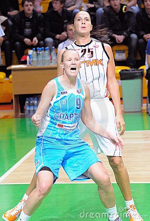 Russian women basketball 2009 Editorial Photography