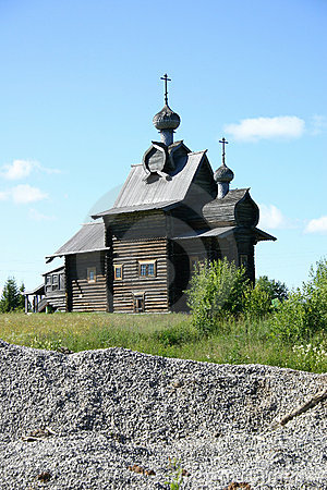 Russian wooden cathedral