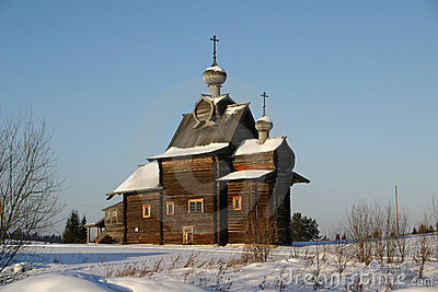 Russian wooden cathedral of XVIII century