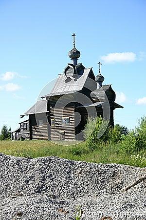 Russische hölzerne Kathedrale