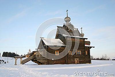 Russische houten kathedraal