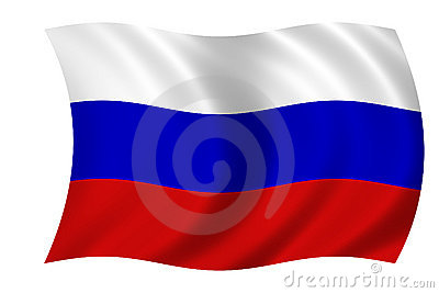 Russische Markierungsfahne