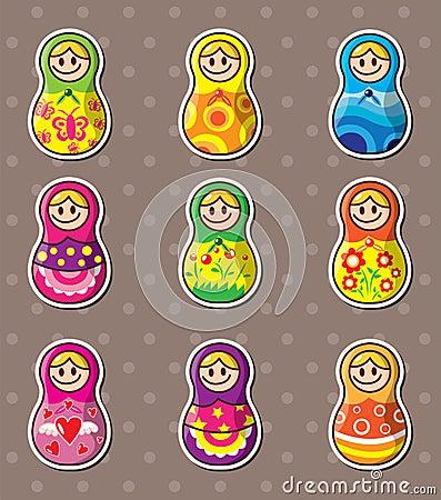 Russische poppenstickers