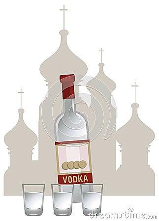Russische Wodka