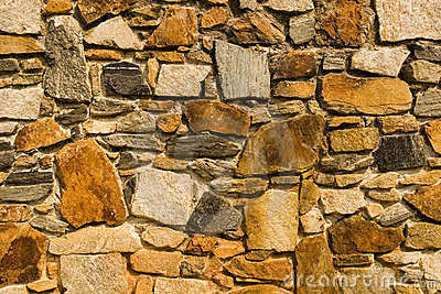 Rust Colored Stone Wall