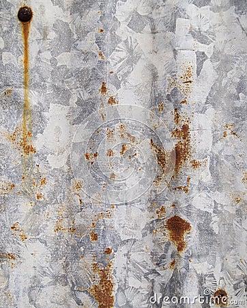 Rust on corrugated iron