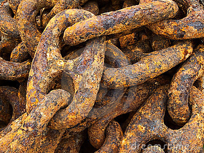 Rust Encrusted Iron Chain