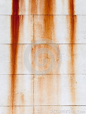 Free Rust Marks On A Creamy White Wall Stock Photo - 37491880