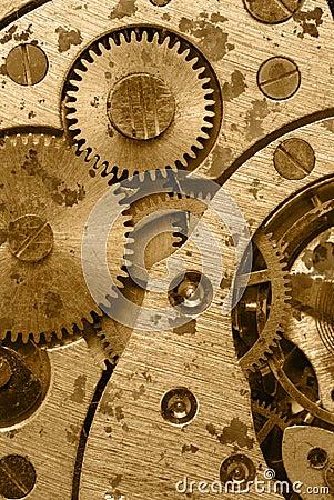 Rust mechanism of analog hours