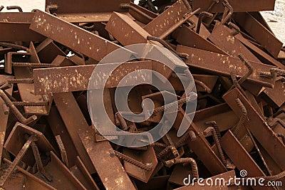 Rust metal parts
