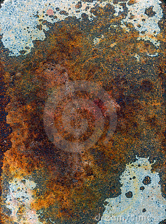 Rust on Metal Surface