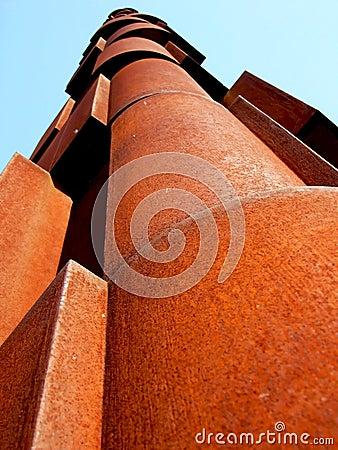 Rust metallic structure