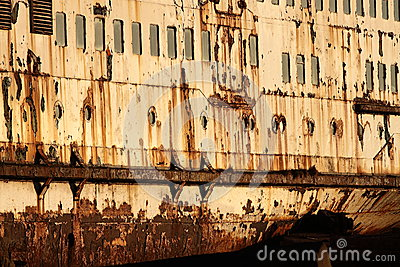 Rust on old ship A