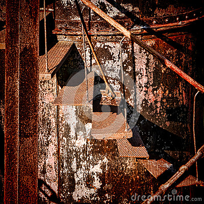 Free Rust Structure Abandoned Rusty Industrial Stairs Royalty Free Stock Photo - 43439215