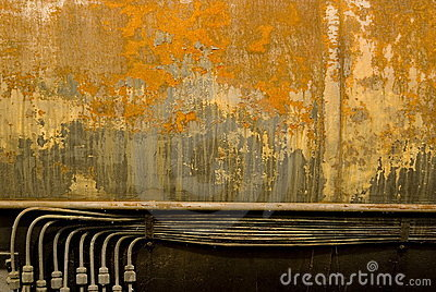 Rust structures on an steam engine