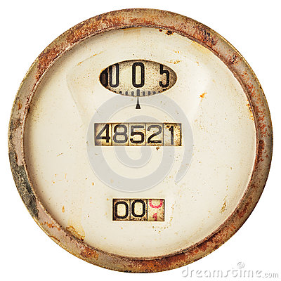 Free Rusted Ancient Speedometer Isolated On White Stock Image - 59776011
