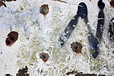 Rusted Bullet Holes