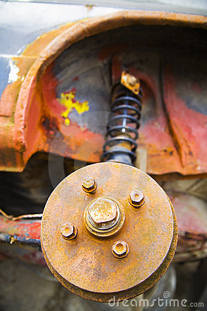 Rusted car parts