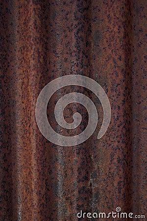 Rusted corrugated iron