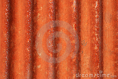 Rusted corrugated metal