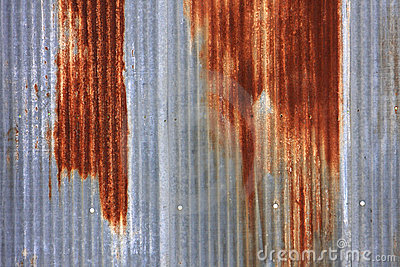 Rusted Corrugated Sheet Metal siding