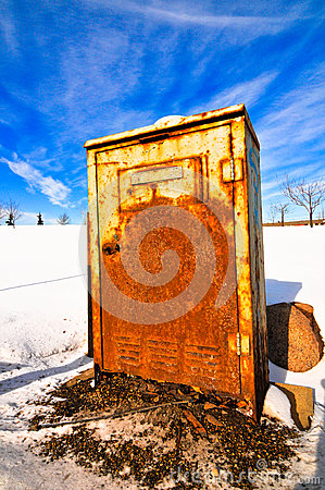 Rusted electrical box