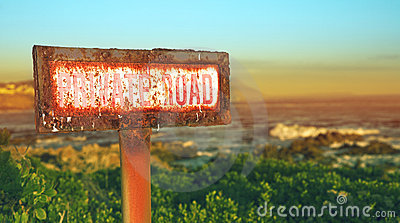 Rusted grunge metal sign