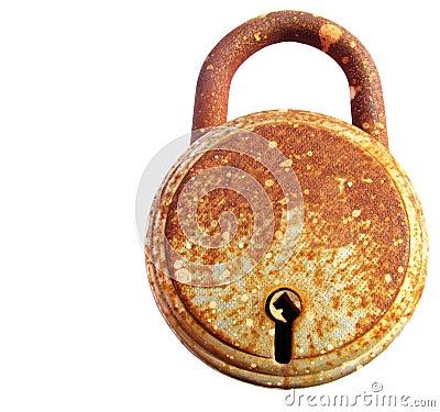 Rusted iron lock