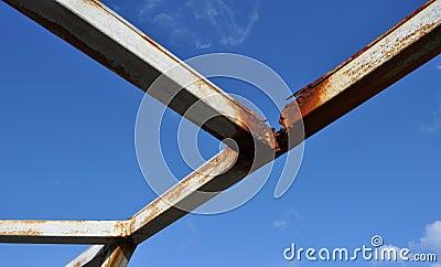 Rusted Metal Beams