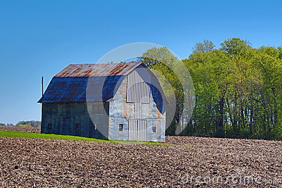 Rusted Metal Farm Shed Stock Photo Image 70795456