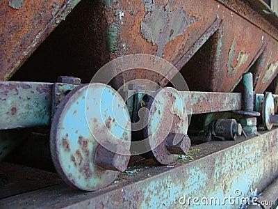 Rusted metal machine