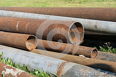 Rusted pipelines
