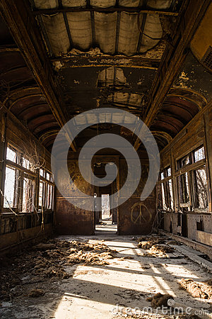 Free Rusted Rail Car Interior. Stock Photo - 85740730